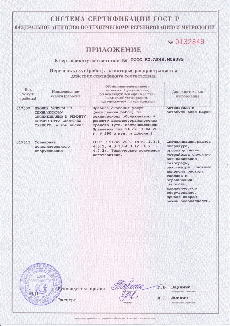 Сертификат РСТ